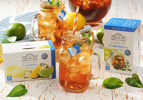 Ahmad Tea develops an innovative new Cold Brew Iced Tea product. Real tea, that brews in cold water, without the need to boil the kettle.