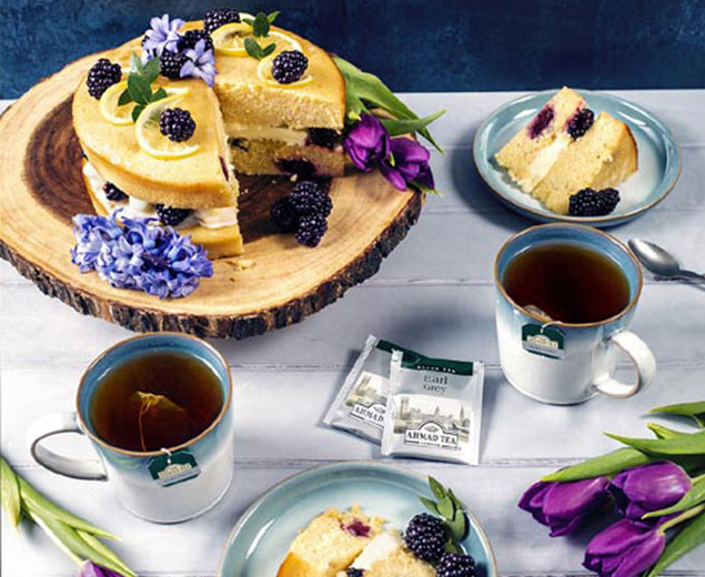 Earl Grey, Lemon & Blackberry Cake