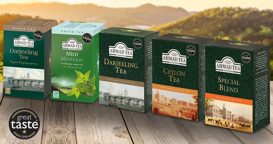 Five Ahmad Tea blends recognised at Great Taste 2018