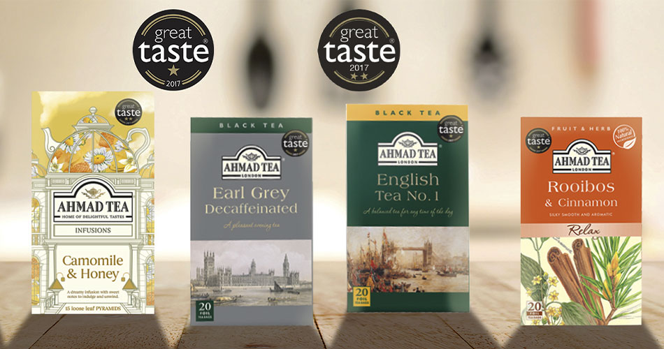 Ahmad Tea wins great taste awards