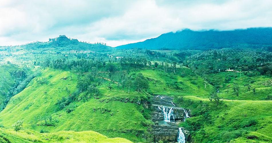 Tea mountain in sri lanka