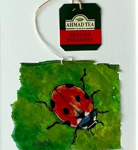 Jan Heath Ladybird on Teabag