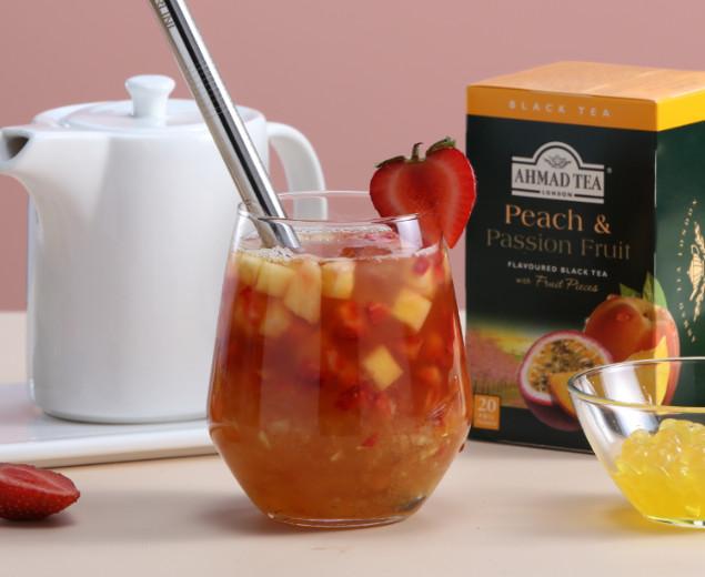 Peach & Passion Fruit Bubble Tea
